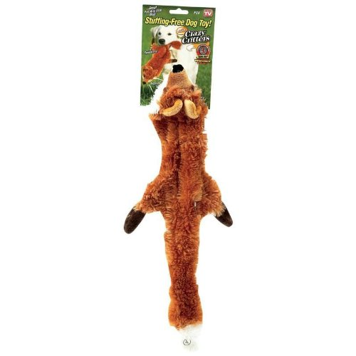 Crazy Critter Fox Stuffing Free Dog Toy - As Seen on TV