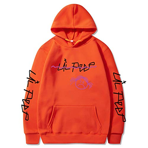Lil Peep T Shirt Unisex Hip Pop Hoodie Rap Cool Pullover Lil+Peep+Hoodie Girls Sweatshirt M Orange