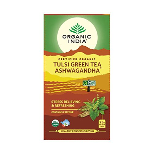 3 bolsas de té de la India Tulsi Green Tea Ashwagandha 25 – de la India
