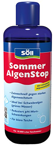 Söll 18765 Algenbekämpfung SommerAlgenStop, gegen hartnäckige Algen im Gartenteich - Algenmittel gegen Fadenalgen, 1 x 1 L, rot