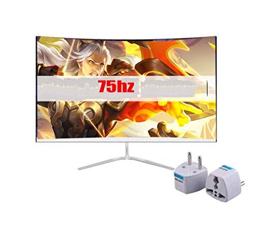 NOOYC 24 inch TN Anti-Glare LED-backlit LCD Gaming Monitor - (black) (2 ms Response Time, Hard Coating IPS, Full HD 1920 X 1080 at 75hz, HDMI, VGA, Eye Care, Tilt and swivel),white_24 inch