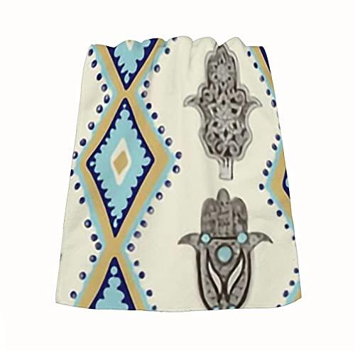 Hamsa Khamsa - Toalla de mano de Fatima (microfibra, suave, absorbente y secado rápido, 1 paquete, 35 x 73 cm)