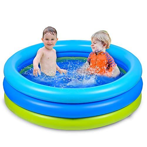Joyjoz Piscina Gonfiabile per Bambini 120cm * 30cm Piscina per Bambini Giochi Estivi Fmiglia Giardino