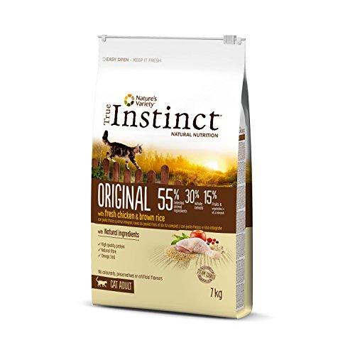 True Instinct Original - Nature's Variety - Croquettes pour Chat Adulte avec Poulet Frais - 7kg