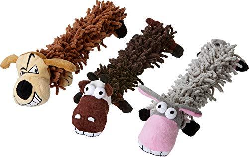Karlie Hundespielzeug Hund, Esel oder Kuh Sortiert, 33 cm