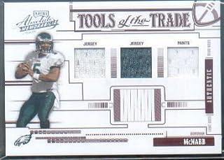 85117094600 2005 Absolute Memorabilia Tools of the Trade Material Triple Red #27 Donovan  McNabb Game-
