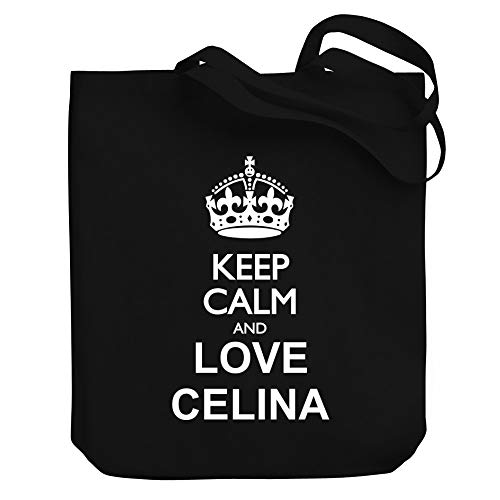 "Teeburon Keep Calm and Love Celina Bolsa de Lona 10.5"" x 16"" x 4"""