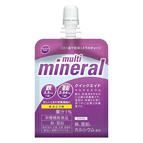 クイックエイド マルチミネラル 180g ×30袋 [ 赤ぶどう味 栄養機能食品 ゼリー飲料 ]