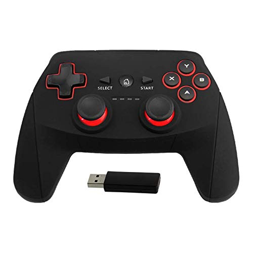 DroiX R1 Gamepad. 2.4Ghz USB Wireless Gamepad for RetroPie, Raspberry Pi, Computer, Mac. X/D Input, 500mAh Battery