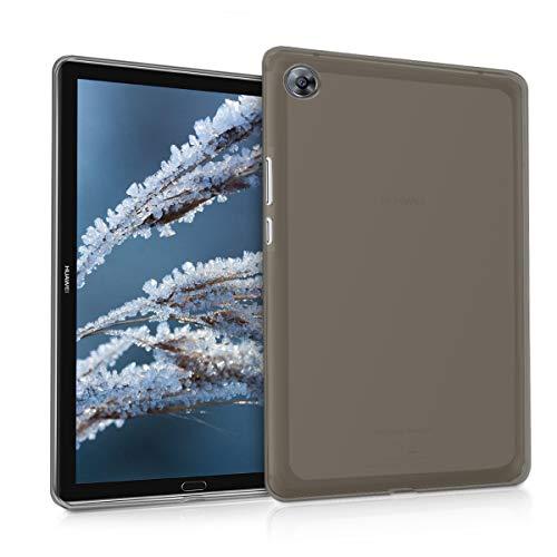 kwmobile Hülle kompatibel mit Huawei MediaPad M5 8 - Silikon Hülle transparent - Tablet Cover Schwarz