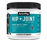 ACTIVPHY Hip + Joint Supplement for Dogs (75 Soft Chews) | Joint, Cartilage & Muscle Support, Vet Formulated, Made in USA, Medium/Large Dogs (7200422)