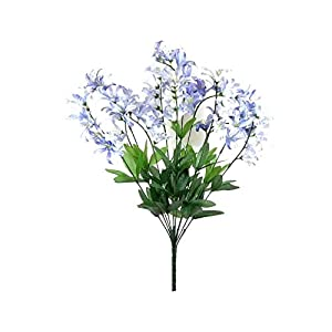GF Artificial Silk Flowers Blue Cream Freesia Bush Artificial Silk Flowers 22″ Bouquet MG019