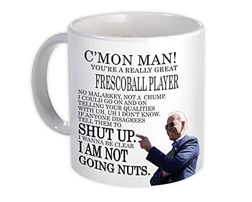 JUGADOR DE FRESCOBOL Funny Biden : Taza de Regalo : Gran regalo de broma Joe Biden Humor Trabajos familiares Navidad Mejor