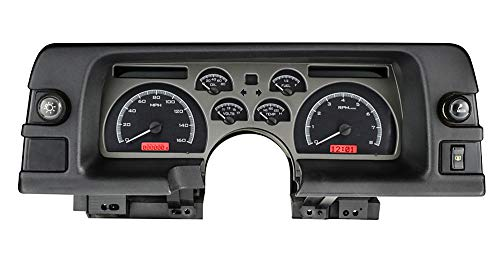 Dakota Digital Dash 90 91 92 Chevy Camaro Analog Dash Gauge Cluster Black Alloy Red VHX-90C-CAM-K-R