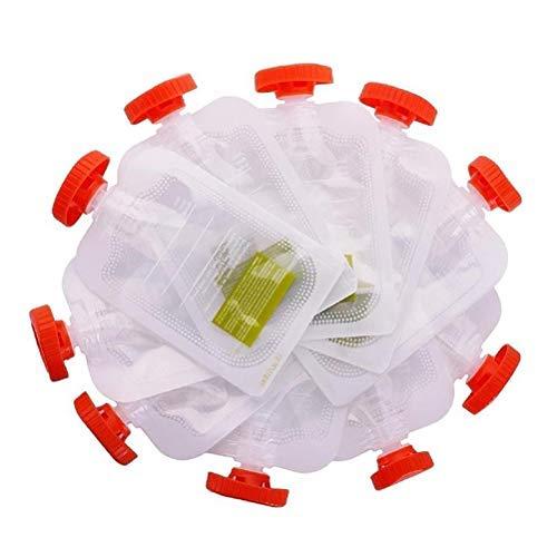 Wopohy Bolsa de Comida para bebé 10 Piezas Bolsa de compresión Reutilizable para bebé Bolsa de Comida para Viajes Largos con niños