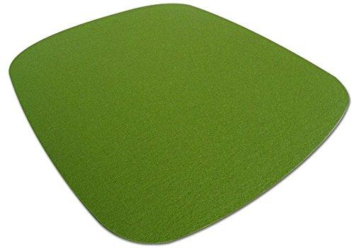 Hey Sign Eames Plastic Armchair Sitzauflage, Schurwolle, Maigrün 30AR, 37x35x0,5 cm