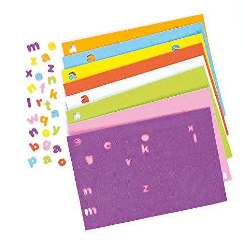 Baker Ross Selbstklebende Schaumstoff-Kleinbuchstaben zum Basteln für Kinder - ideal für Schriftzüge und als Dekoration - 1100 Stück