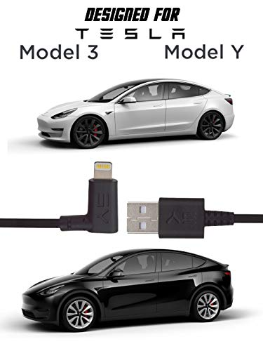 3Y Extras: Tesla Model 3 and Model Y charging cable accessory. Connect your phone to your car for a fast charge and data sync. USB to Lightning MFi certified for the highest quality and reliability.