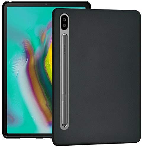 Verco Funda para Samsung Galaxy Tab S6 10.5, Tapa Trasera de TPU Flexible Carcasa Silicón Case [T860/T865], Negro