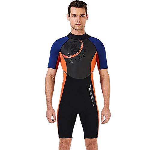 ZWPY Traje Completo de Neopreno para Hombre y Mujer,una Sola Pieza Shorty Wetsuit - para Verano, Vacaciones y Buceo,Man,L