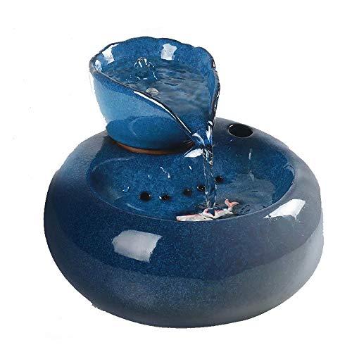 Distributeur d'eau pour Chat à Circulation Automatique Fournitures pour Animaux de Compagnie Chat Qui coule avec Un Chat d'eau vive avec Bassin d'eau vive Fontaine d'eau Potable
