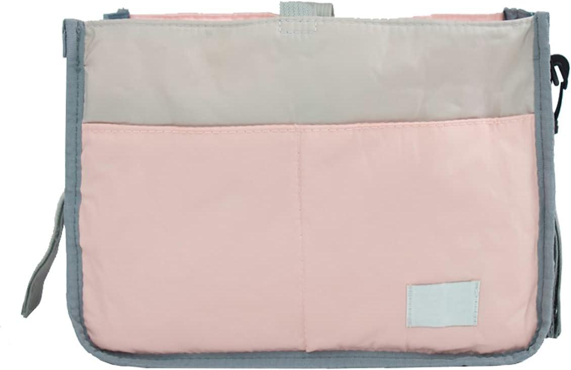 UNIVERSESTAR Universal Stroller Organizer, Multifunctional Diaper Storage Bag Fits for All Stroller, Stroller Caddy / Car Bag with Hooks for Infants Essentials, Baby Shower Gifts (Pink)