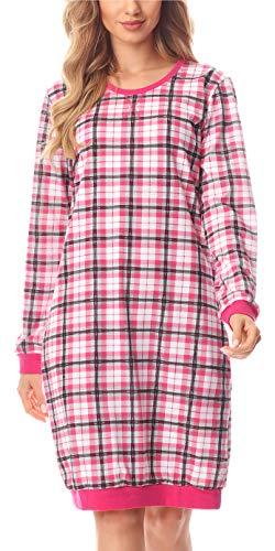 Merry Style Damen Nachthemd MS10-180 (Rosa/Kariert, S)