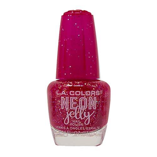 l a colors gel nail polishes L.A. Colors Neon Jelly Nail Polish (Ruby Rogue)
