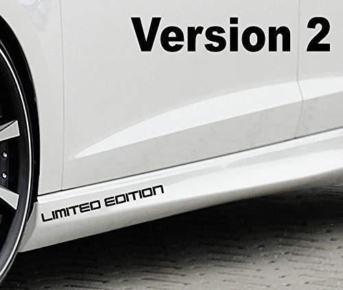 Limited Edition Motorsport Aufkleber Sticker 2er Set (5 versch. Versionen) (schwarz glänzend, Version 2)