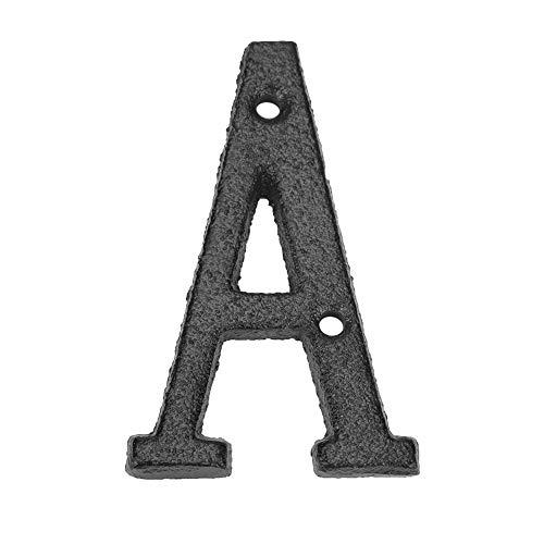 Matefielduk Letras Casa Exterior,Letras Hierro decoración Placa Letras de Metal Hierro Fundido Letrero de La Casa para DIY Puerta decoración de Pared