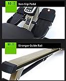 Rowing Machines Faltbare Trac Glider Rudergerät Trainingsgeräte 12 Widerstandseinstellung mit LCD-Display 330 LB Gewicht Kapazität for Home Gym - 7