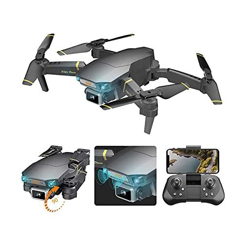 Drone quadricottero RC con doppia fotocamera 4K, gesto pieghevole foto/video, decollo/atterraggio con una chiave, modalità senza testa, rotazione di 360 gradi, 3 livelli regolabili, per adulti bambini