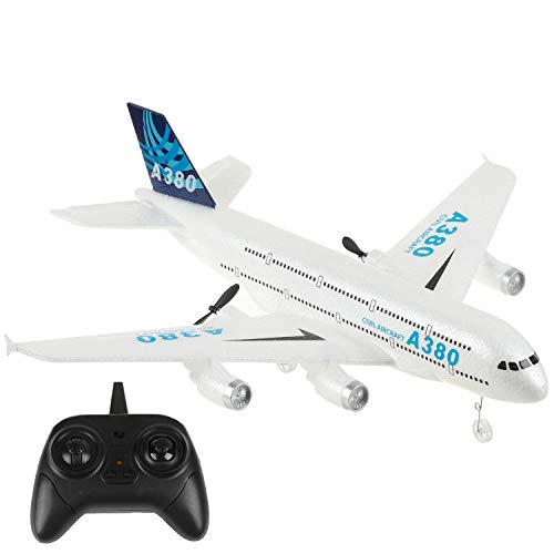 OTTCCTOY RTF RC Plane, 2.4Ghz 2 Channel Remote Control Airplane RC Aircraft Builted in 6-Axis Gyro, A380 RC Aircraft for Kids Boys EPP Beginner Glider