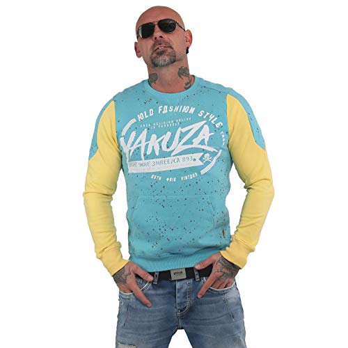 Yakuza Herren Old Fashion Two Face Pouch Pullover Sweater