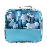 Baby Pflegeset | 13-teiliges Baby Pflege Produkte | Baby Pflegeset | Nagel und Nasen Pflege mit Tasche mit Handtasche