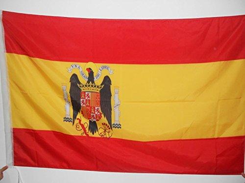 AZ FLAG Bandera de ESPAÑA DE Franco 150x90cm para Palo - Bandera FRANQUISTA ESPAÑOLA 90 x 150 cm