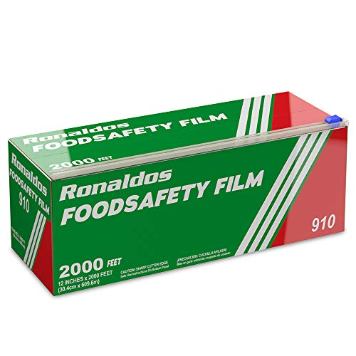 Ronaldos Food Safety Film, 18 inch x 2000ft Plastic Wrap