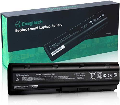 Enegitech HP MU06 Notebook Laptop Battery for 593553-001 593554-001 Pavilion G4 G6 MU09 593562-001 CQ42 CQ56 CQ57 CQ62, 6 Cells 10.8V 4400mAh Replacement Battery