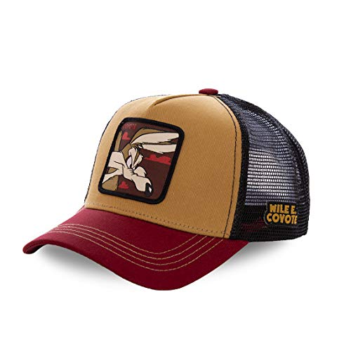 Capslab Baseball Cap Coyote Mehrfarbig Beige Red Black, Size:ONE Size