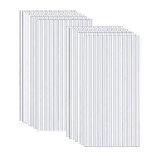 Froadp 14 Stück UV-beständigem Polycarbonat Hohlkammerstegplatten 700g/㎡ Doppelstegplatte Gewellte Gewächshausplatte für Garten Treibhaus(605x1210x4mm, Transparent)