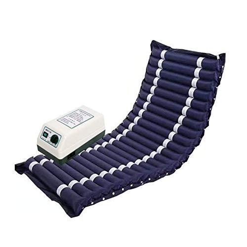 Slud Colchón antiescaras de Aire, con compresor, Nylon y PVC, 200 x 90 x CM, 20 Celdas, Azul