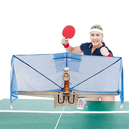 Buy Discount DNYSYSJ Table Tennis Robot Automatic Ping Pong Ball Machine with Catch Net for Ping Pon...