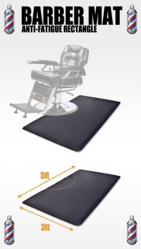 "5' x 3' Barber Hair Salon Anti Fatigue Floor Comfort Work Mat Rectangle 1/2"" Thick"