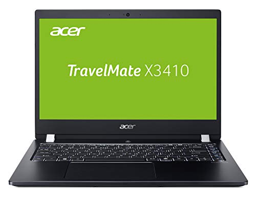 Acer TravelMate X3410 (TMX3410-M-52C5) 35,6 cm (14 Zoll Full-HD IPS matt) Office Laptop (Intel Core i5-8250U, 8 GB RAM, 256 GB SSD, Intel UHD, Win 10 Home) schwarz