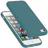 Cadorabo Funda para Apple iPhone 5 / 5S / SE 2016 en Liquid Verde - Cubierta Proteccíon de Silicona TPU Delgada e Flexible con Antichoque - Gel Case Cover Carcasa Ligera