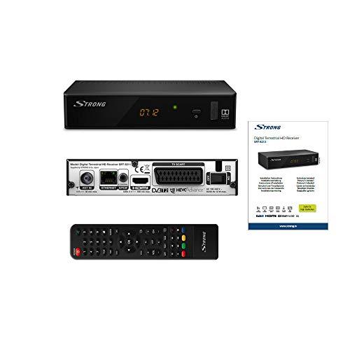 STRONG SRT 8211 digitale terrestre HD Decoder DVBT2 [HDMI, SCART, S/PDIF coassiale, Ethernet, FULL HD DVB-T2 Antenne-Ricevitori] - nero