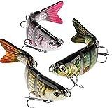 Señuelos de Pesca, 3 cebos Vivos para Peces, segmentos robóticos para Nadar, señuelos de Pesca Animados, señuelos de Pesca, señuelos para lubinas