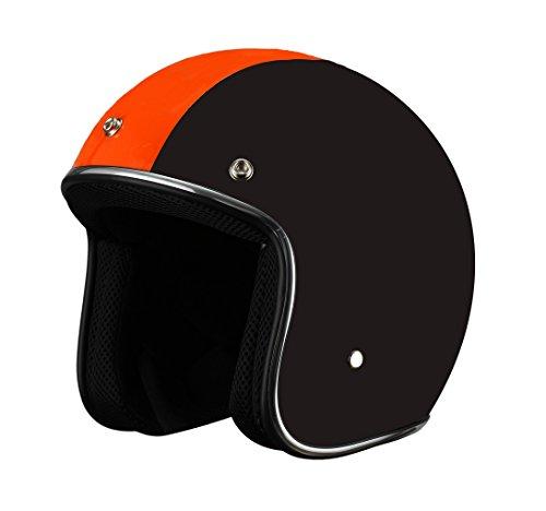 BHR Casco, color Negro/Naranja, talla 59/60