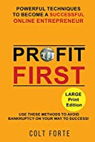 Profit First: POWERFUL TECHNIQUES TO BECOME A SUCCESSFUL ONLINE ENTREPRENEUR: Use These Methods To Avoid Bankruptcy On Your Way To Success! LARGE PRINT