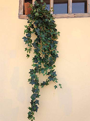 Simulation Of Green Ivy,Simulation Beautiful Hanging Plant Floral Suitable For Venue Layout Interior And Exterior Decoration Wedding Scene Etc.-Bunch of ivy
